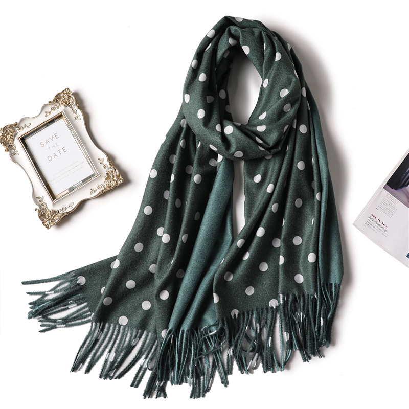 Designer 2019 women winter scarf for ladies shawls and wraps cashmere scarves dot warm neck head pashmina female stoles echarpe hoodie