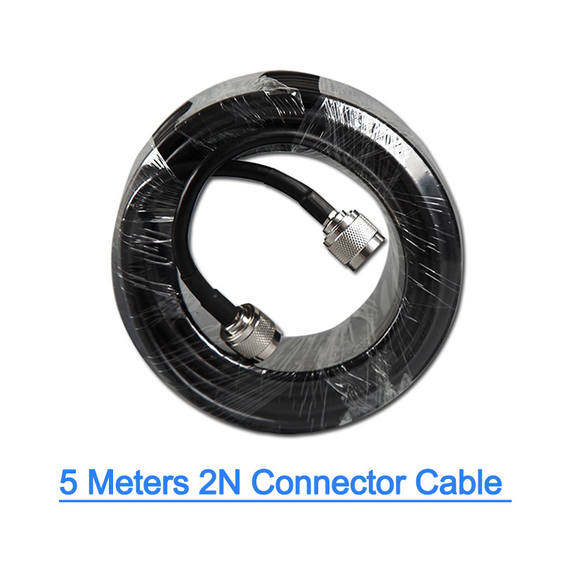 LEORY  N Male To N Male Type Low Loss RF Coaxial Cable 50ohm 5 Meters Extension Antenna Connecting Cell Phone Signal Booster 5M