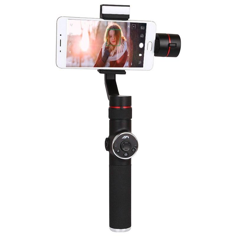Afi V5 stabilisateur de cardan pour téléphone 3 axes stabilisateur de Smartphone portable téléphone cellulaire Selfie bâtons pour caméra d'action