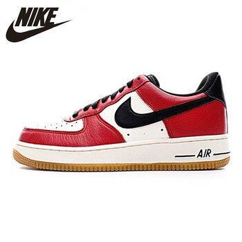 NIKE AIR FORCE 1 bajo AF1 hombres junta zapatos transpirables Zapatos de deporte antideslizante resistente al agua zapatillas #820266 600, 820266 009