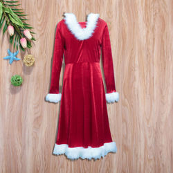Christmas Dress Women Ladies Dresses Xmas Holiday Dress Santa Long Sleeve Xmas Family Matching Clothes NEW Red 10