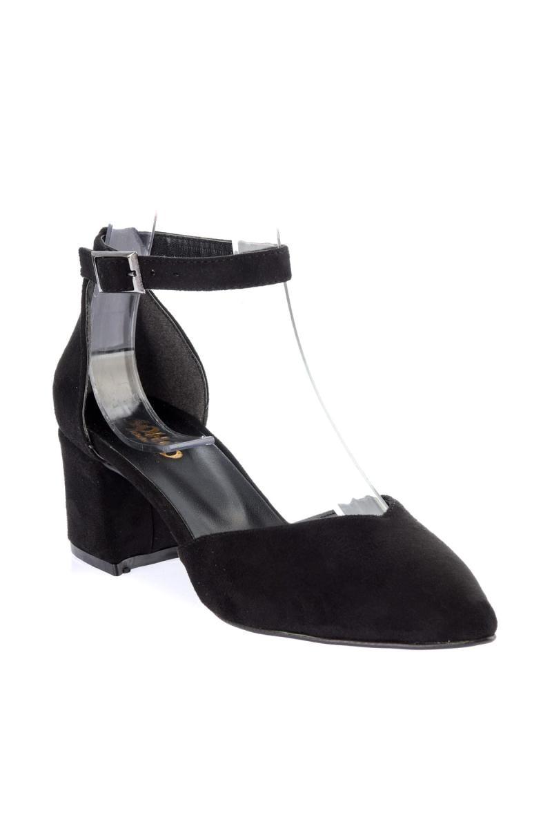 Tacón Alto 12561 Mujeres Soho Negro De Para Gamuza Zapatos WT7BA
