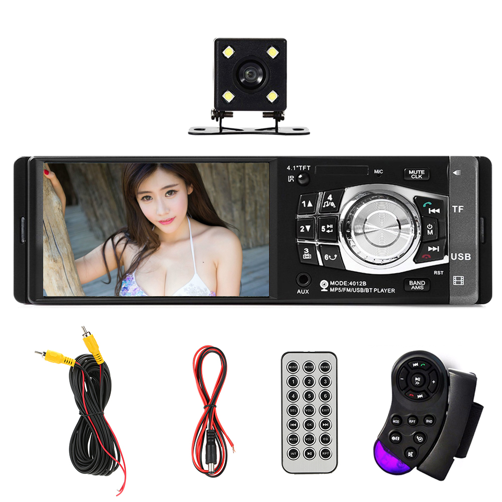 Car Radio Auto Audio Stereo FM BT 2.0 Support Rear View Camera USB Steering Wheel Remote Control With/Without Camera MP5 Player