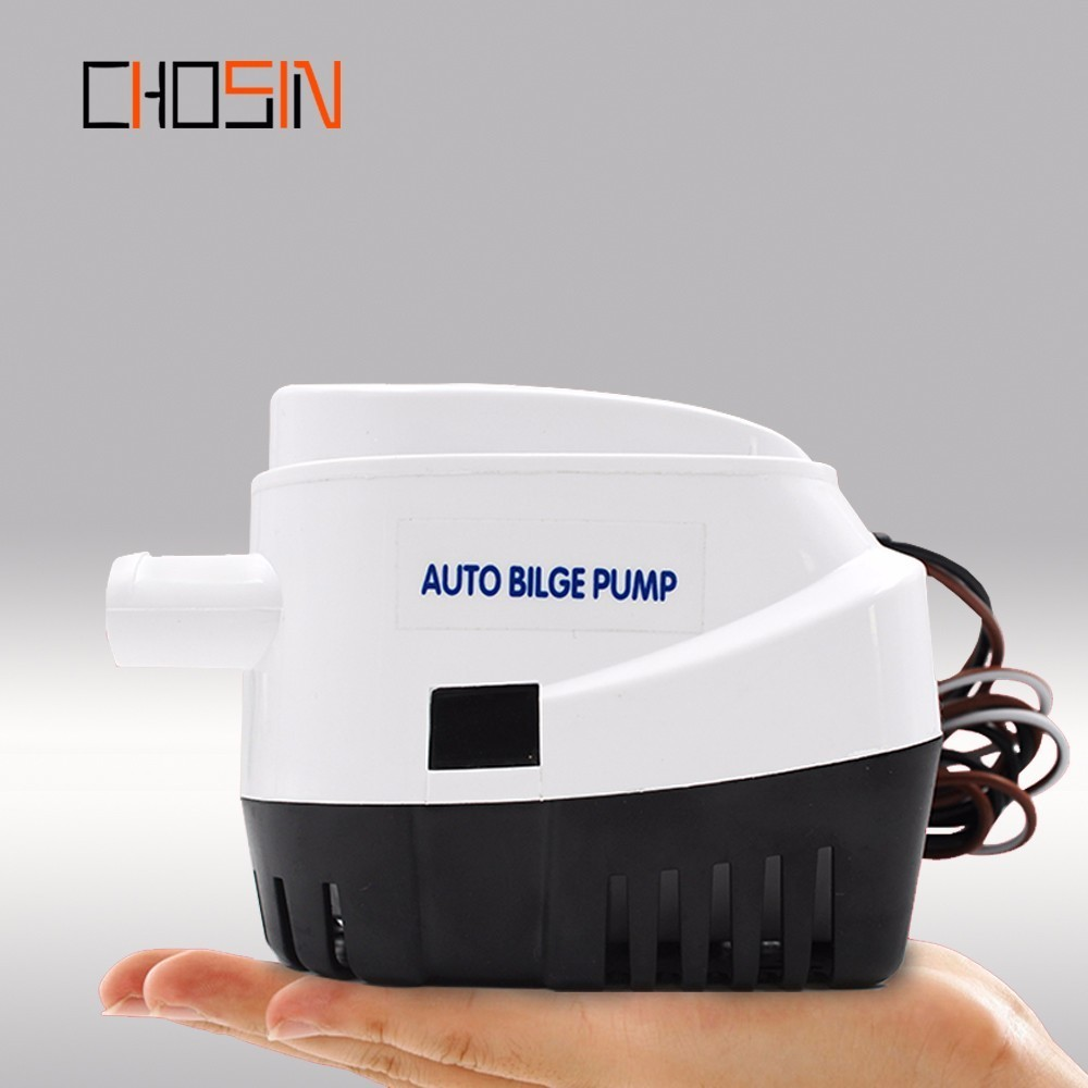 (FREE SHIPPING)750gph 1100gph Automatic Boat Bilge Pump 12v 24v Auto Dc Submersible Electric Water Pump Small 12 V Volt