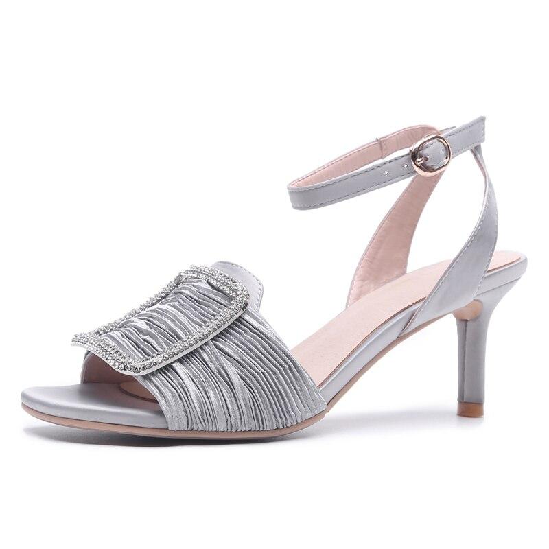 177c1bcdaa4c86 Talons Hauts gray W111 De Femme 5 Robe Ouvert Soirée Chaussures Black À  Escarpins Sandales pink ...