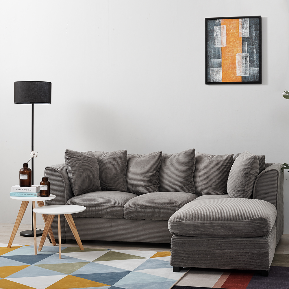 Panana Livingroom Furnitures Corner Sofa Bed /Footstool Seater with Armrest Cushions PillowsPanana Livingroom Furnitures Corner Sofa Bed /Footstool Seater with Armrest Cushions Pillows
