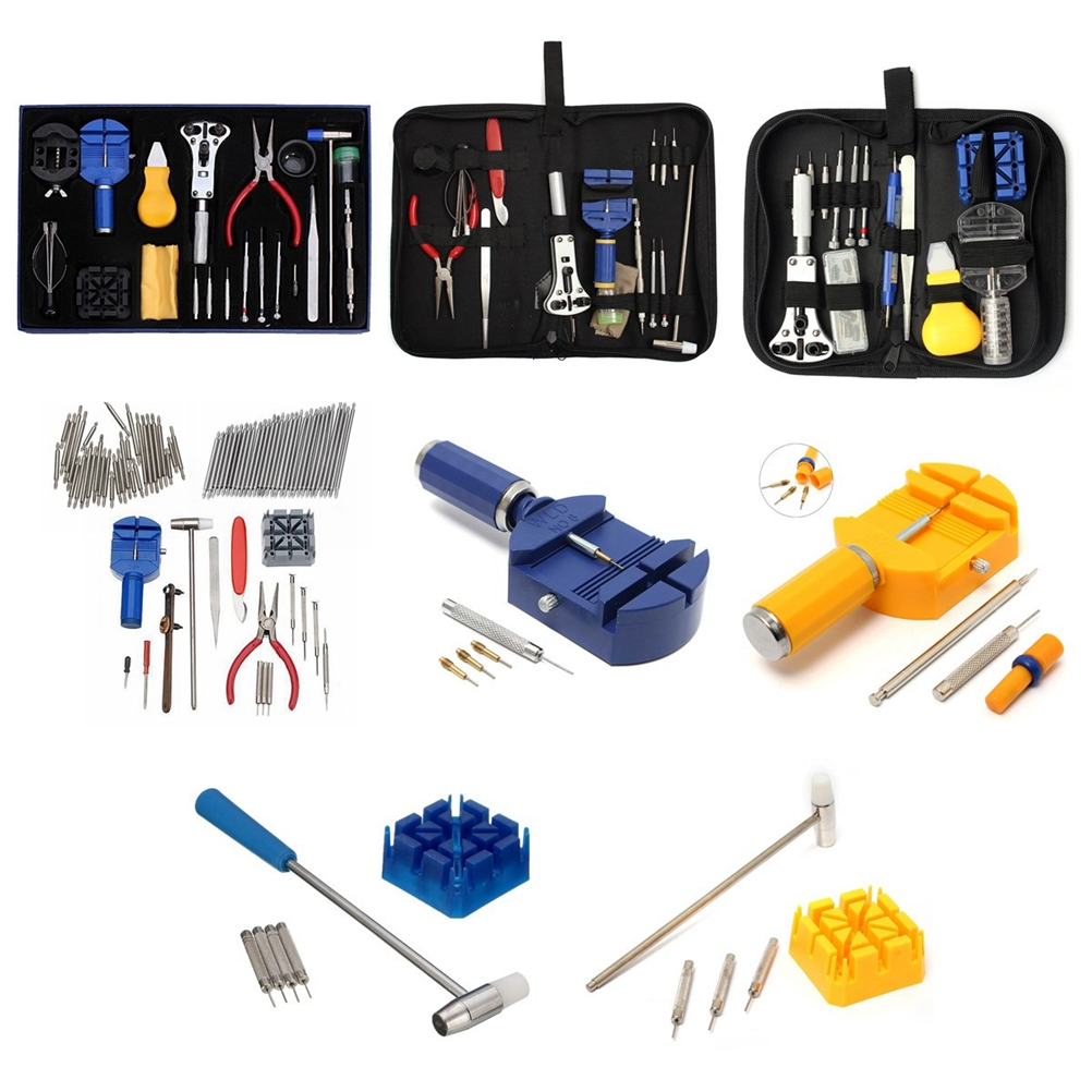 144 Pcs Watch Repair Kit Portable Professional Durable Watch Maintance Kits Watch Case Opener Spring Bar Tool Set with Carrying in Hand Tool Sets from Tools