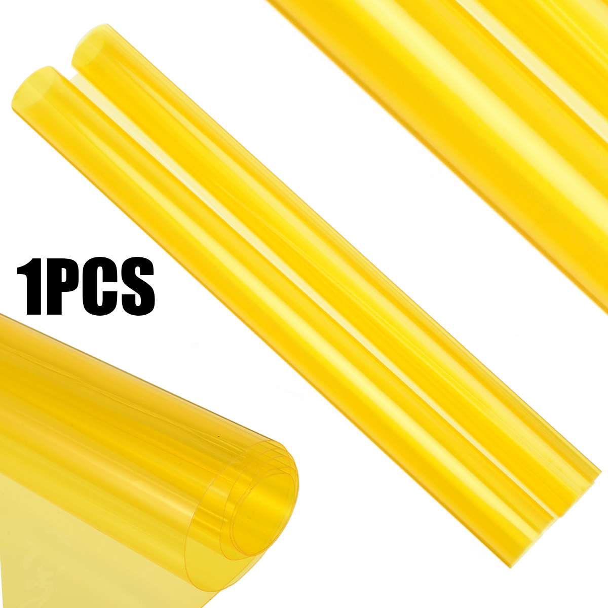 1 Roll 60x30CM Yellow Auto Car Headlight Taillight Tint Vinyl Smoke Film Sheet Sticker Car Styling Decorative Accessories in Car Stickers from Automobiles Motorcycles