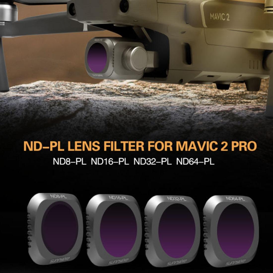 Sunnylife 4 pz Set di Filtri con ND8-PL ND16-PL ND32-PL ND64-PL Filtro per DJI MAVIC 2 PRO Drone