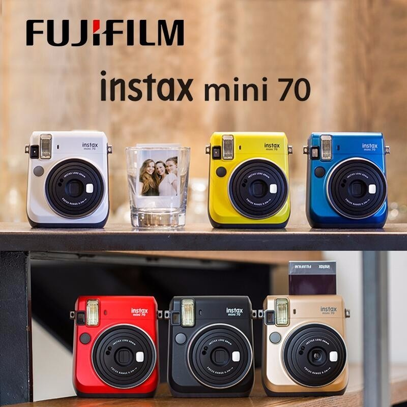 6 couleurs Fujifilm Instax Mini 70 Photo instantanée appareil Photo instantané rouge noir bleu jaune or blanc