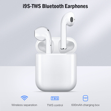 KISSCASE I9S TWS Wireless Earphone Portable Bluetooth Earphones Headset Invisible Earbud for iPhone