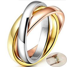 Love Faith Hope Triple Interlocked Engagement Rings for Women Stainless Steel Three-in-one Promise Gift for Her Valentine's Day(China)