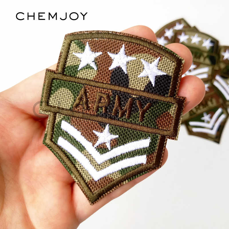 Embroidered Camouflage Army Patch for Clothing Iron Sew Applique for Jackets Jeans Biker Patch Bags Shoes Clothes Sticker Badge