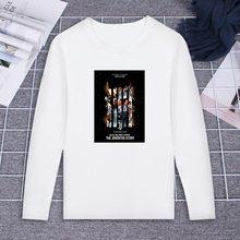 9bae6a6186 Nova Camiseta de Manga Longa Juventus Time De Futebol Figuras Design Art  Print 100% Algodão