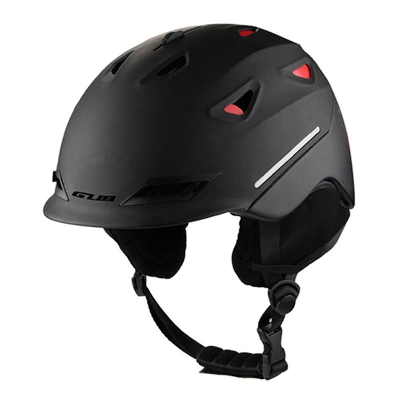 GUB 628 Bike Ski Helmet Integrated Handy And Practical Multifunctional Bicycle Helmet With Detachable Ear Cushions 58 62 cm-in Ski Helmets from Sports & Entertainment    1