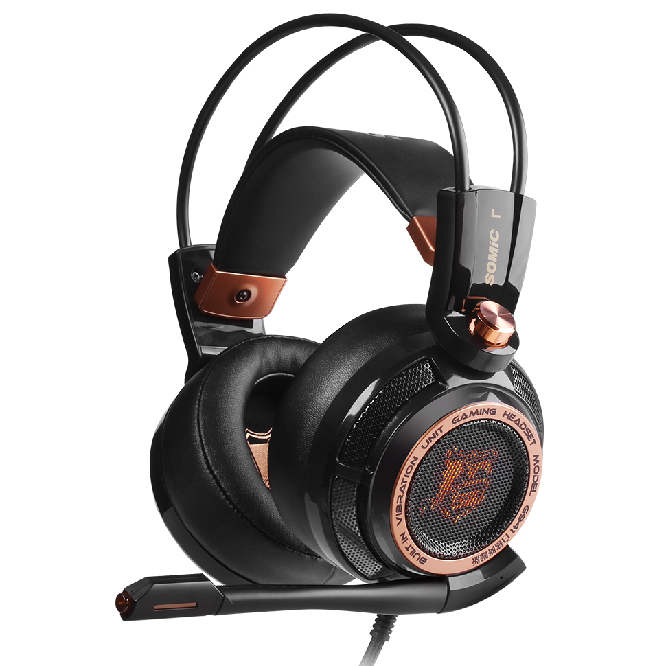 SOMIC G941 Upgrade 7.1 Active Noise Cancelling Gaming Headset Headphones Virtual Surround Sound USB Vibration ANC Headphones