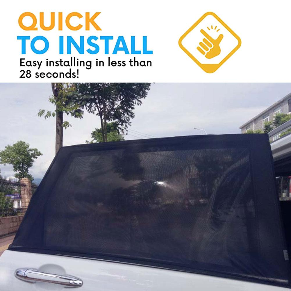 Image 4 - 1 Pair Car Side Window Sunshade Curtain Mesh Sun Heat Block SUV Special Mosquito Resistant Screen Window Car Accessories-in Side Window Sunshades from Automobiles & Motorcycles