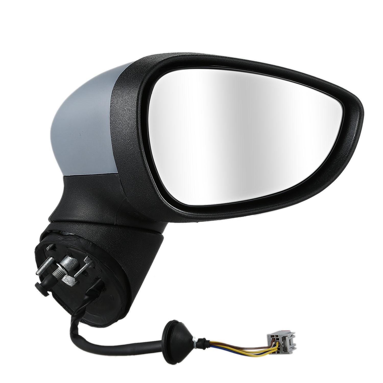 Right Driver Side OS Door Wing Mirror Power Fold Temp Sensor Primed Chrome Base
