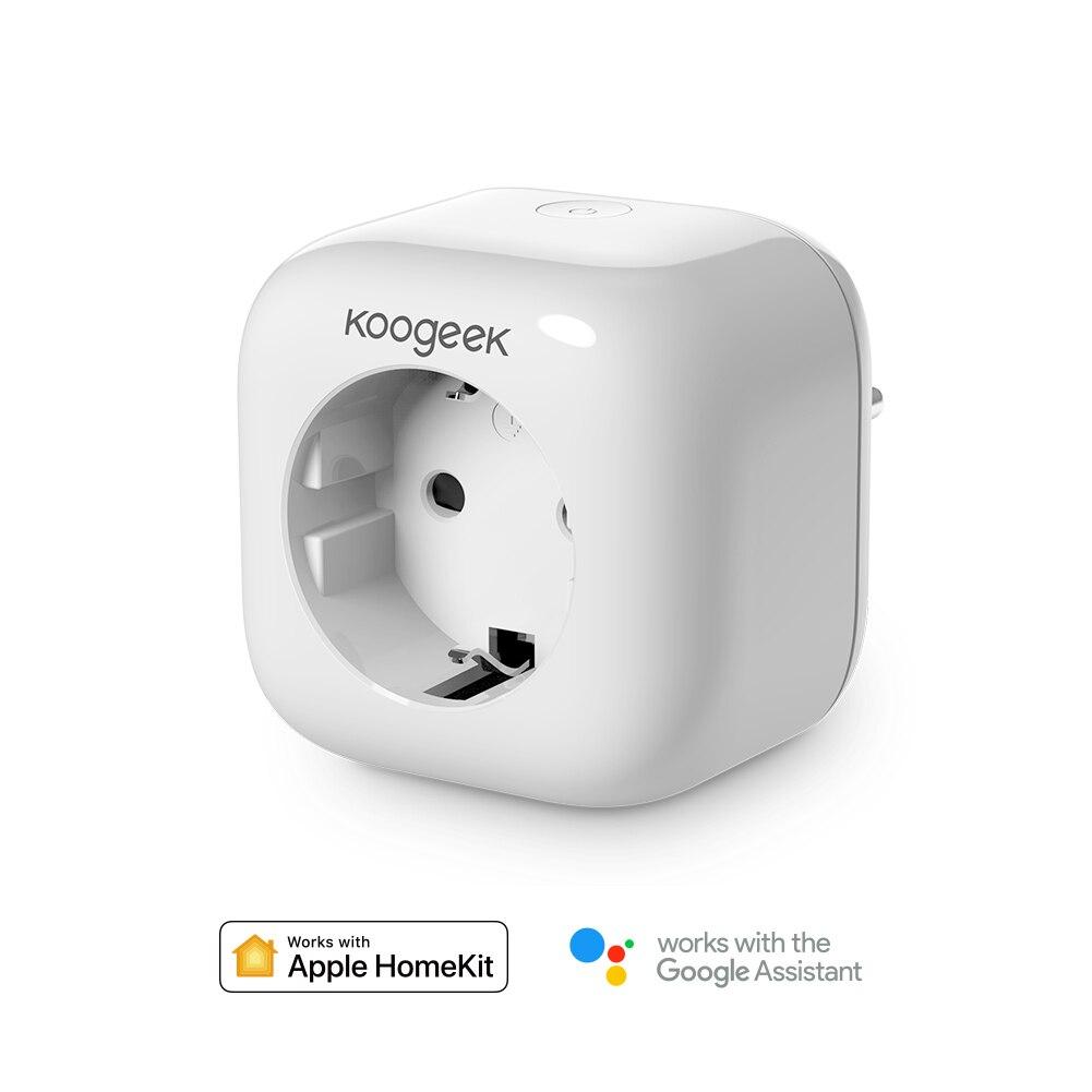 Koogeek Smart Home WiFi Socket Plug For Apple HomeKit Google Assistant Amazon Alexa EU Power Energy