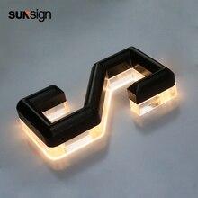 Высокое качество рекламы светодиодная вывеска с подсветкой буквы 3d акриловые вывески