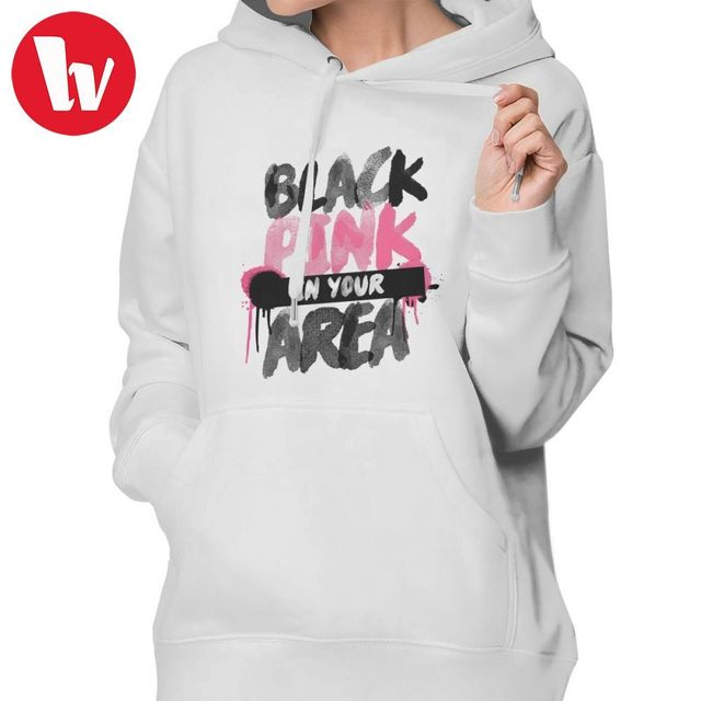 WishShape Kpop Clothes BLACKPINK In Your Area Long-sleeve Cotton Women Pullover