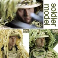 12Sniper Action Figures 1/6 Soldier Models+Ghillie Suit+Barrett Set Army Man Dolls Military Toys Boys Birthday Gift Collection