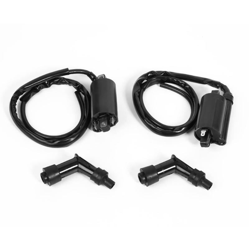 VODOOL Front Rear Motorcycle Ignition Coils For <font><b>Suzuki</b></font> <font><b>VS1400</b></font> Intruder 1400 1987-2014 Motorcycle Ignition Accessories Parts image