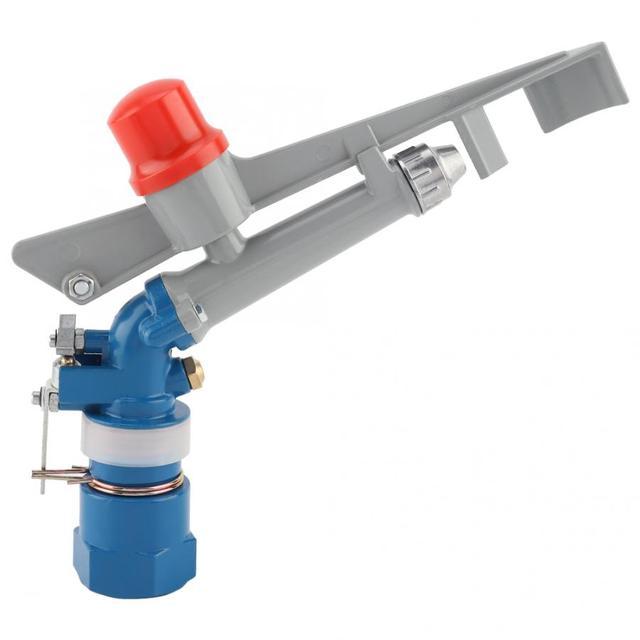 1Dn25 Zinc Alloy Nozzle Irrigation Sprinkler Gun Water System 360 Degrees Adjustable Rain Spray Gun Field Sprinklers