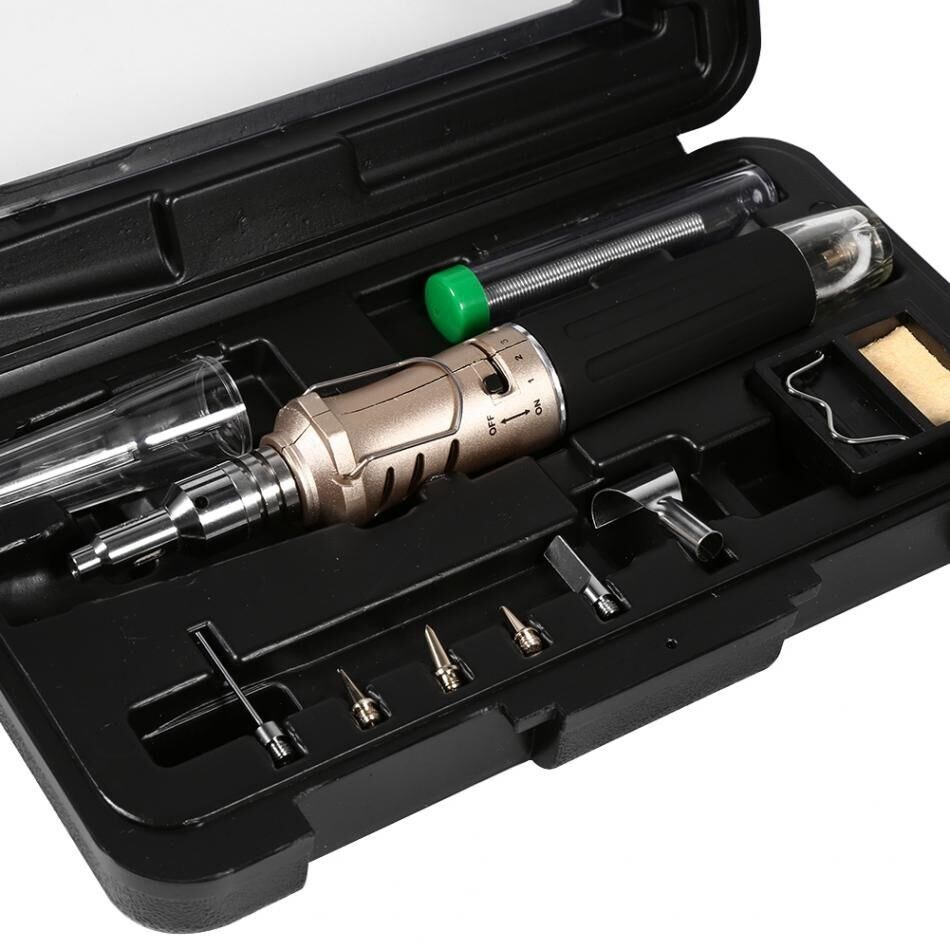 Cheapest 10 In 1 Automatic Ignition Butane Soldering Iron Kit Welding Torch Tools Kit Electric Soldering Set Gas Blow Torch Pen