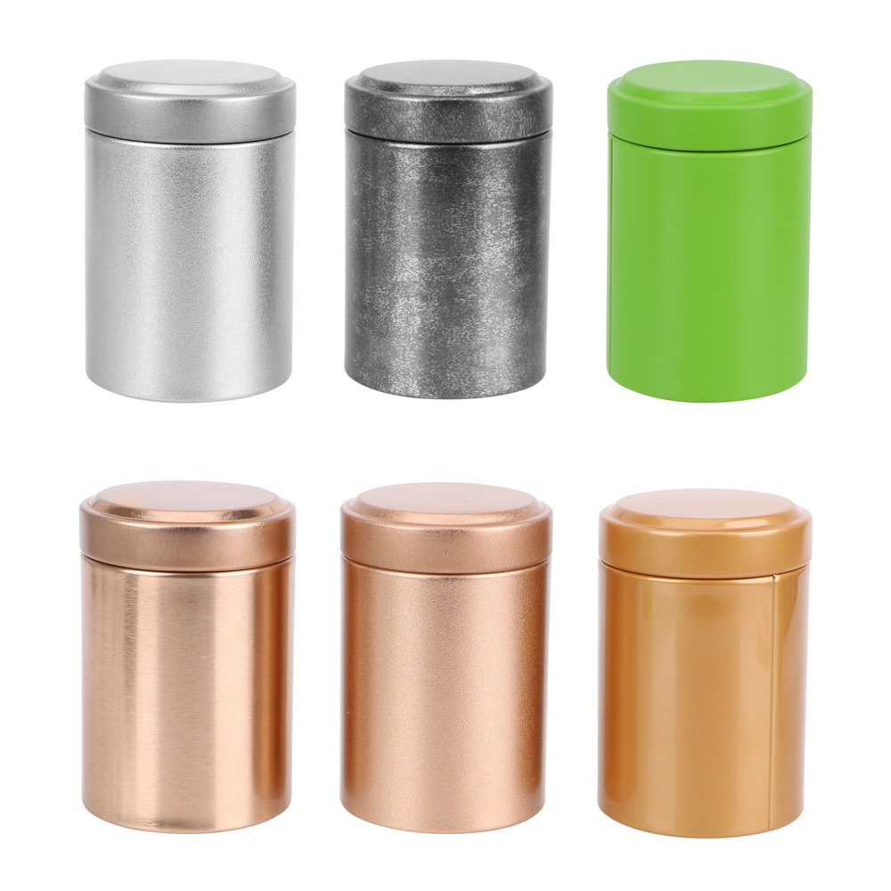 Portable Organizer Alloy Seal Tea Box Cans Mini Tea Caddy  Kung Fu Tea Sealed Cans Dried Fruit Collection