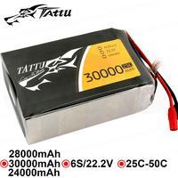 TATTU БПЛА батарея 24000 мАч 28000 30000 6 S 25C 15C индивидуальный разъем Batteria для Quad дроны Heli Professional применение