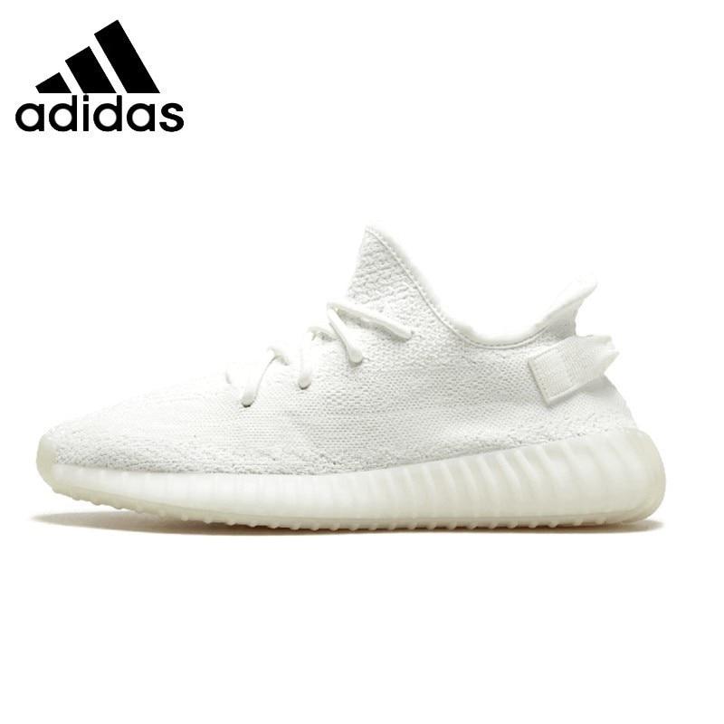 Adidas Yeezy Boost 350 V2 TRIPLE blanc hommes chaussures de course pur blanc confortable respirant Sports de plein air baskets # CP9366