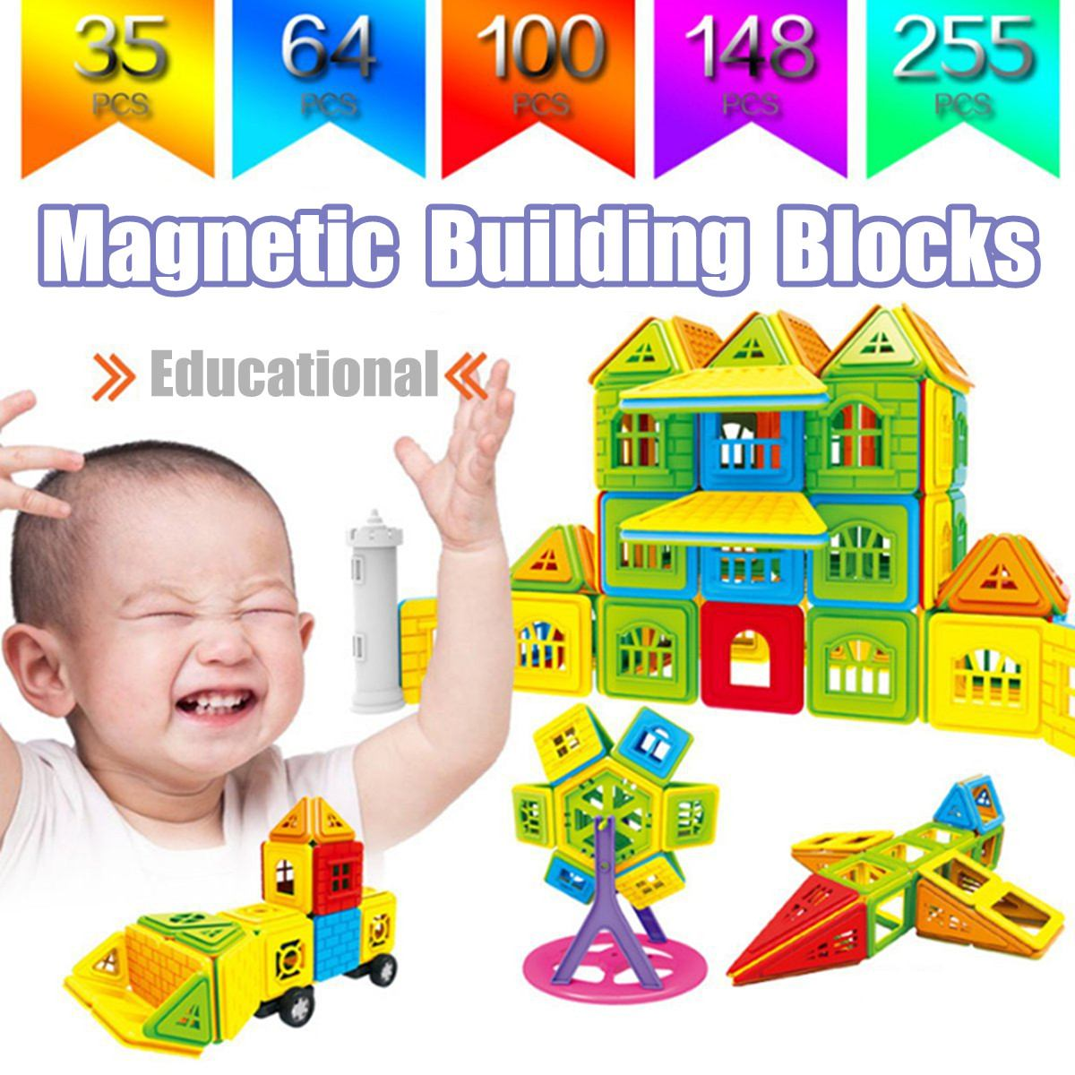 78 pieces for children from 3 years. Neoformers High Quality Magnetic Building Blocks