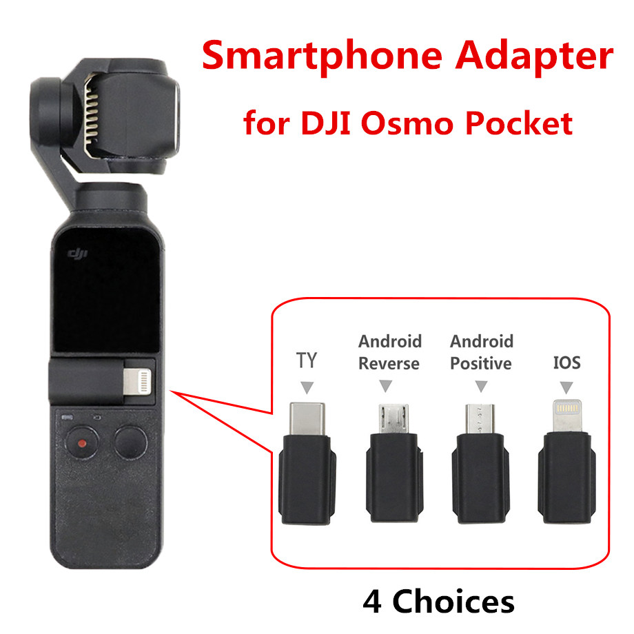 Osmo Pocket Smartphone Adapter Phone Connector Micro USB TYPE-C Android IOS Connector For IPhone Phone For DJI OSMO Pocket