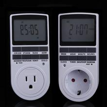 US/EU Plug Portable Plug-in Digital Timer 24h 7day Week with LCD Display for Indoor Appliance Lights/TV/PC/Fans/Kitchen