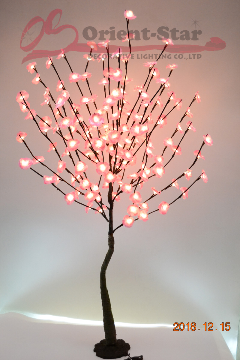 52 160 LED Blossom Mini Rose Flower Tree Light With Base Nature Trunk Holiday New Year Wedding Luminaria Decorative Tree Ligh - 2