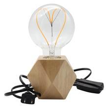 E27 Деревянный светильник в форме бриллианта с диммером 110-240V US Plug