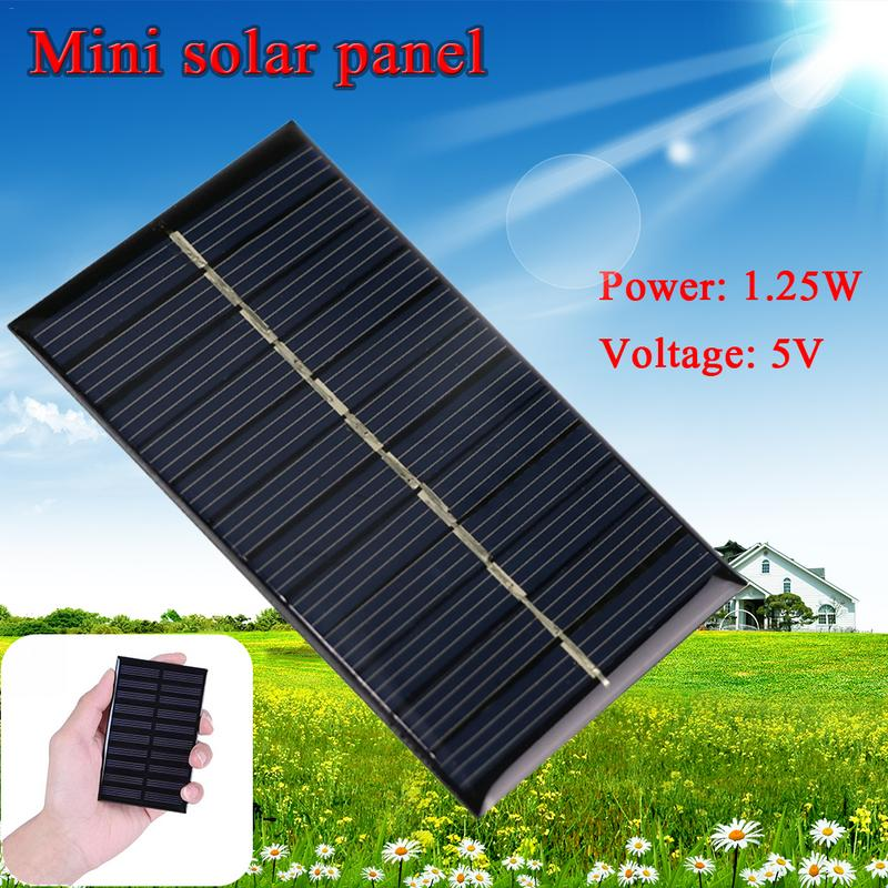 Mobile Phone Accessories Collection Here 110 69mm Mini 5v 1.25w Solar Panels Diy Portable For Cell Phone Toy Charge Chargers Portable Solar Cell 1.25w High Quality
