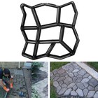 1pc DIY Garden Stone Road Walk Maker Mould Pavement Plastic Concrete Mold Manually Paving Cement Brick Patio Path Moldes ON SALE
