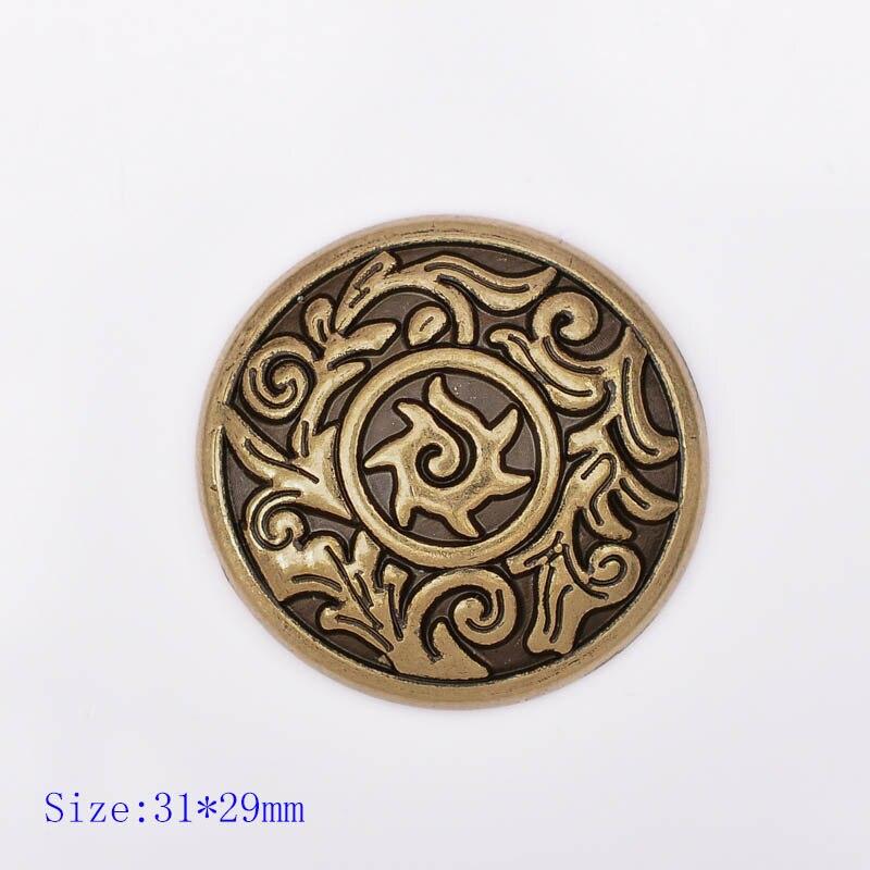 16x16mm Charm 10 Antique Bronze Metal Flower Button Pendants