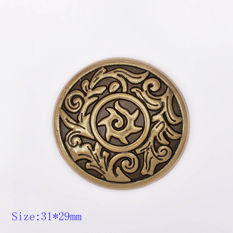 1 and 1.5 1, Nickel Plated Sierra Slotted Concho Solid Brass Leathercraft Decorative Accessory