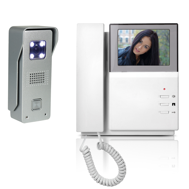 Video Door Phone Intercom Doorbell System Kit 4.3 LCD Monitor Aluminum alloy  IR Camera Videll Door interphone kit for homeVideo Door Phone Intercom Doorbell System Kit 4.3 LCD Monitor Aluminum alloy  IR Camera Videll Door interphone kit for home