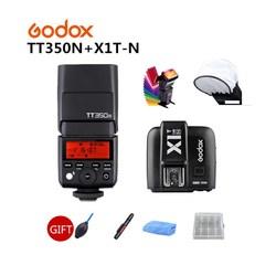 Godox TT350 TT350N MINI Flash Speedlite TTL 2.4G HSS GN36 1/8000s + X1T-N Trigger for Nikon DSLR + 6 Gift Kits