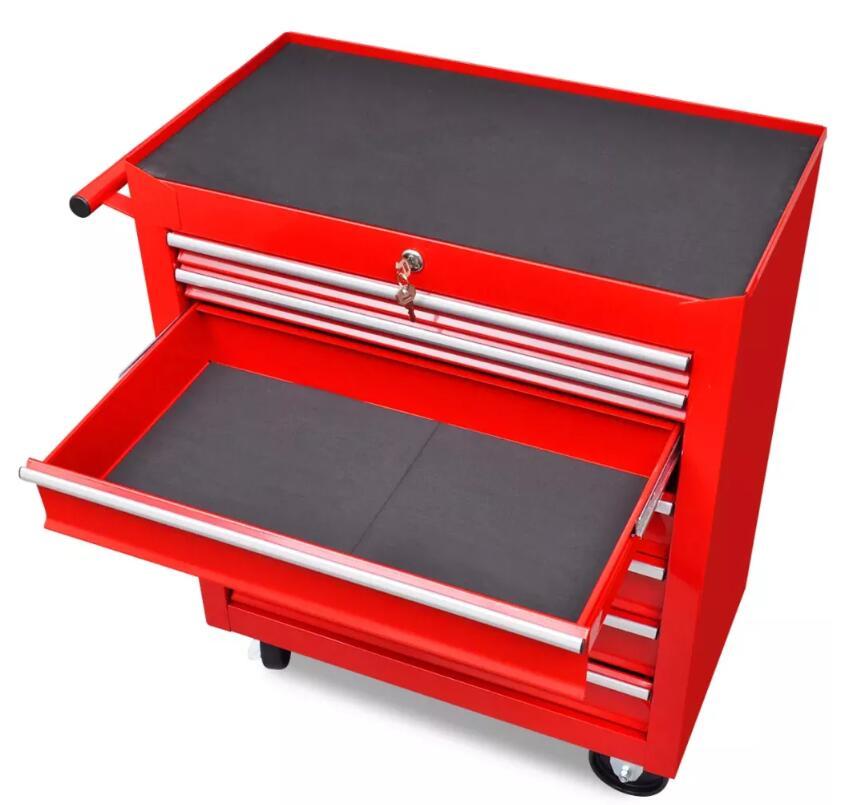 VidaXL 7 ярусов полка Тяжелая мастерская гараж DIY инструмент для хранения тележки колеса тележки лоток емкость для хранения тяжелого оборудования - 4