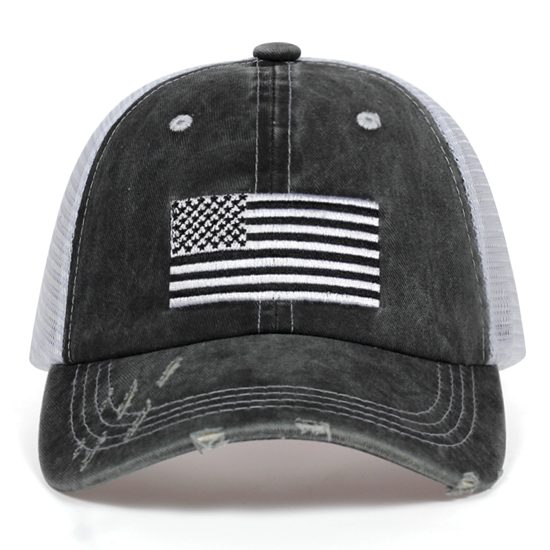 Flag and Map of South Dakota Mens Women Wool Ball Cap Adjustable Snapback Dad Hat