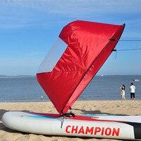 46 дюймов складные всплываемые доски ветер весло Легкая установка ветровой парус каяк даунветр комплект каяк каноэ надувные для лодки для п...
