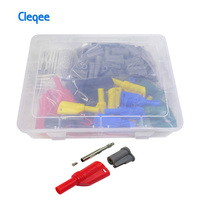 Cleqee 70pcs P3005B 5 colors 4mm Banana Plug Sets Stacking Safety Banana Plug Welding/Assembly Multimeter Connector Welding free