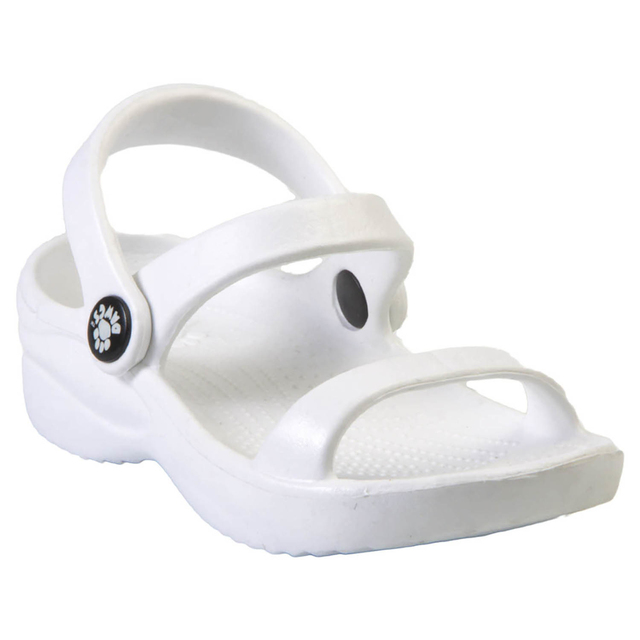 Kids' DAWGS 3-Strap Sandals - White