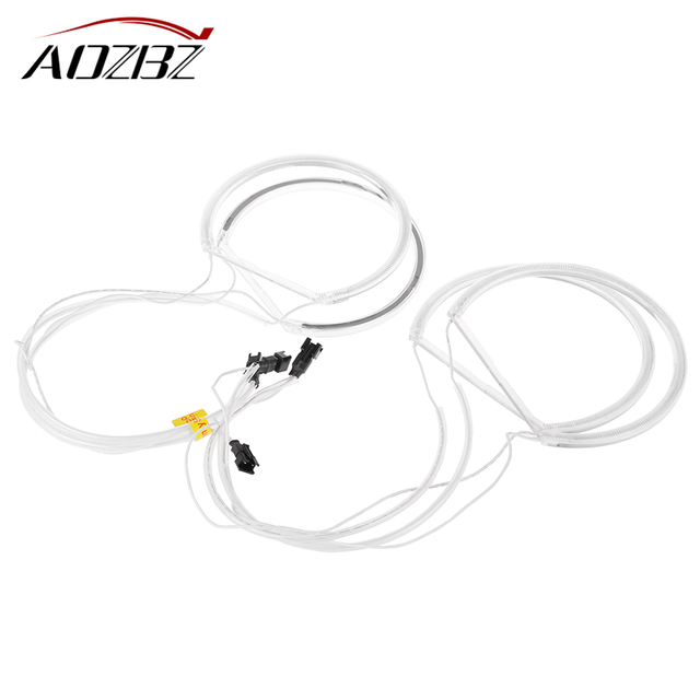 AOZBZ 4 stücke CCFL Auto Angel Adler Augen Licht Flexible Rohr Scheinwerfer Weiß Scheinwerfer für E36 3 E38 7 E39 5 E46 (131*2 + 146*2)