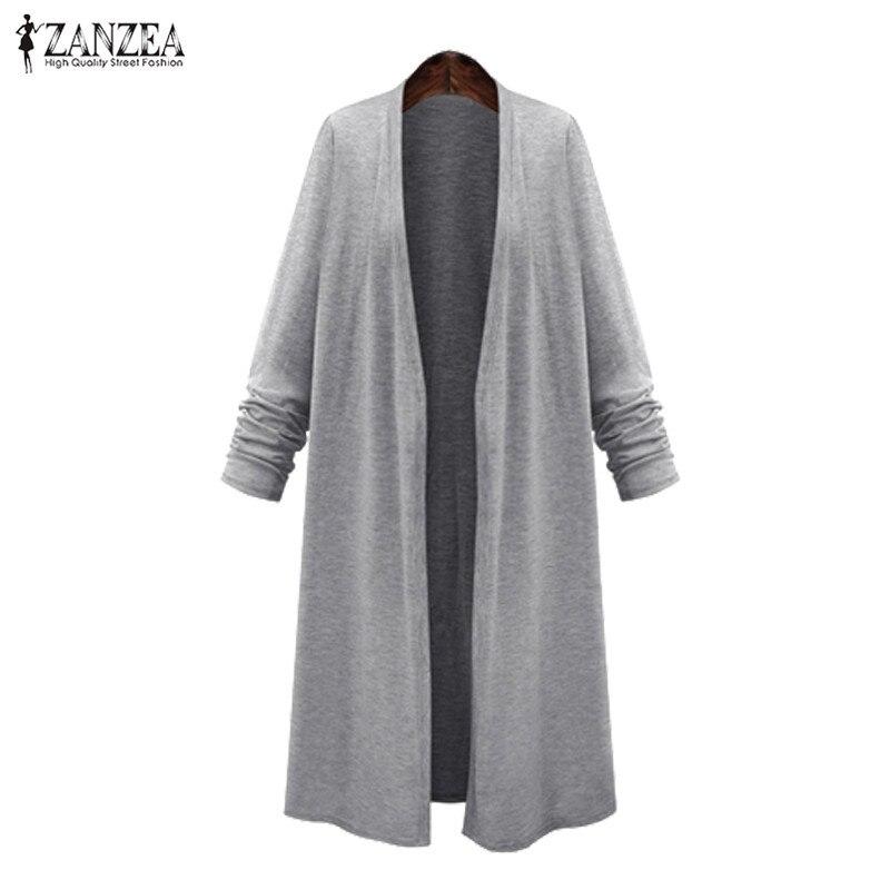 ZANZEA Plus Size Poncho Women Cardigan 2020 Spring Women Long Jackets Female Open Front Coats Cape Autumn Woman Coats Shirts 5XL